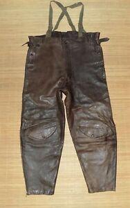pantalon culotte cuir armée pilote Français H.MOREL 1939 modèle S.I.P