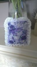 Hand-Sewn Lavender Bag in Laura Ashley Print - Lace Edged