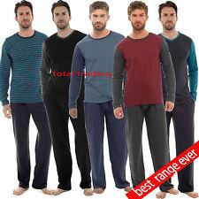 Mens Pyjama Long Sleeve Top Trousers Pj Nightwear Cotton Lounge Wear  PYJAMAS