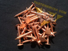 "1 1/4"" Smooth Plain Shank Solid Copper Roofing Nails 10 gauge (50 pcs)"