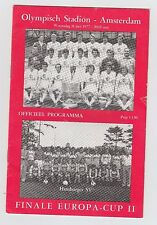 Orig.PRG   EC 2  1976/77   FINALE   RSC ANDERLECHT - HAMBURGER SV  !!  RARITÄT