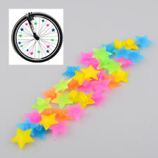 36Pcs Colorful Plastic Clip Kids Girl Boys Bike Bicycle Wheel Spoke Beads Decor