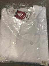 Nwt In Bag Chef Works Men's Le Mans Chef Coat, White, 2X-Large