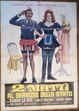 FILM-2 MATTI AL SERVIZIO DELLO STATO,ANNO 1972-MANIFESTO(100 X 140)N.150
