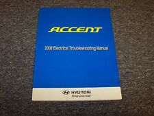2008 Hyundai Accent Factory Electrical Wiring Diagram Manual Book GS GLS SE 1.6L