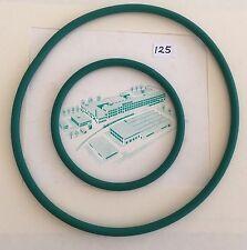 COPPIA cinghie di trasmissione NUOVO si adatta VINTAGE Bernina 125 pezzi di ricambio per parti di macchine da cucire