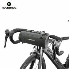 RockBros Bicycle Handlebar Bag Waterproof Cylinder Cycling Bag Black Gold