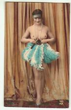 FRENCH REAL PHOTO TINTED POSTCARD NUDE RISQUE EROTIC ALFRED NOYER PARIS c1920