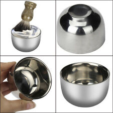 ZY Fashion Stainless Steel Metal Men's Shaving Mug Bowl Cup For Shave Brush New