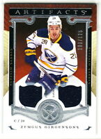 2015-16 UD Artifacts DUAL JERSEY RELIC #109 ZEMGUS GIRGENSONS 106/125 Sabres