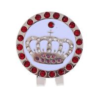 Golf Ball Marker Golf Hat Clip Golf Cute Cap Clip Crown Design