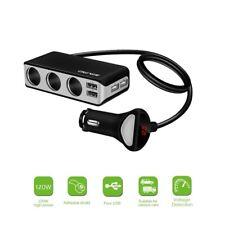 Car Charger Support Display Volmeter 4 USB Port 3 Way Socket Splitter 120w