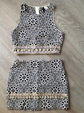 Gonna H&M Hennes Crop Shell Aztec Co-Ord 10 piccola Festa di Natale come Boohoo