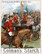 Colmans Starch Queen Victorias Jubilee 1897 Vintage Advertising Art Print/Poster