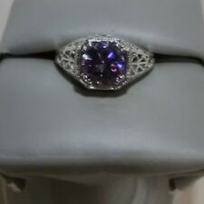 Amethyst Sterling Silver Ring By Fragrant Jewels
