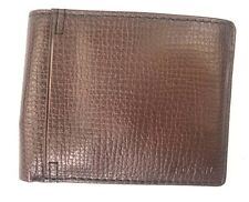 Fossil wallet Men's Slim Collin Passcase Id Dark Brown Leather Bifold Wallet