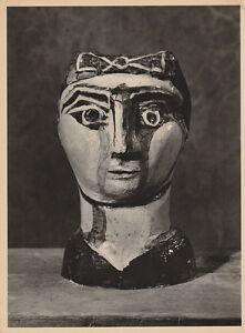 PABLO PICASSO - ceramic  * very rare art HELIOGRAVURE VERVE 1951