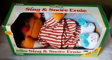 Vintage 1996 Tyco Sesame Street Sleep And Snore Ernie Talking & Singing Doll NIB
