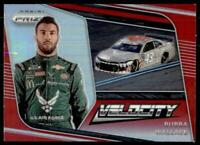 2020 Prizm Racing Velocity Red Prizm #80 Bubba Wallace
