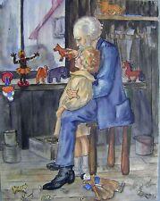 Illustrations enfants dans l'atelier w / col Doris blanc (né en 1908)