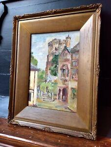 Genuine 1900s Signed Oil Painting,CRANBROOK,Impressionist,Old Ornate Gilt Frame
