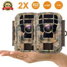 2 Stück Campark 16MP 1080P Jagdpfad Kamera IR Nachtsicht Wasserdichte Kamera