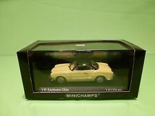 MINICHAMPS 51020 VW VOLKSWAGEN KARMANN GHIA COUPE 1957 - YELLOW 1:43 - NMIB