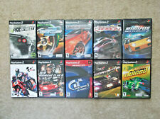 10 PS2 PlayStation 2 Racing Game Lot