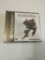 Final Fantasy Anthology V & VI Collector's Package PS1 no soundtrack broken case