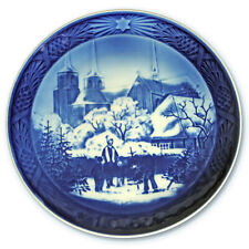 "1997 Royal Copenhagen Christmas Plate. ""Roskilde Cathedral"""