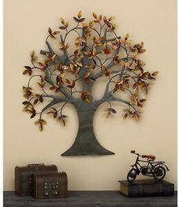 Autumn Tree of Life 3-D Metal Wall Art Sculpture Textured Finish Indoor/Outdoor