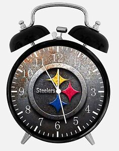 """Pittsburgh Steelers Alarm Desk Clock 3.75"""" Room Office Decor X45 Nice For Gift"""