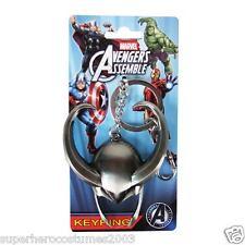The Avengers Loki Helmet Pewter Key Chain Keyring Marvel Comics New 67987