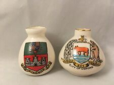More details for vintage crested china windsor city of oxford clifton carton china vases