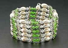 Magnetic Therapy Hematite Pearls & Green Crystal Beads Wrap Necklace/Bracelet