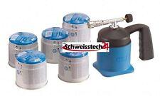 Lötlampe Lötbrenner Brenner löten Hartlöten CFH Lötlampe mit 5 Ersatzkartuschen