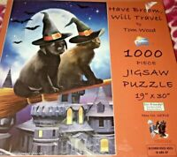 Have Broom Will Travel Halloween 1000 Piece Jigsaw Puzzle