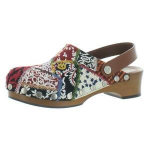 Christian Dior Womens Quake Red Beaded Clogs Shoes 37 Medium (B,M) BHFO 4386