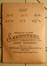 - 3/0-10-8 1/2 - .70 X .11 Nos Sandsteel Swiss Replacement Watch Mainspring C107