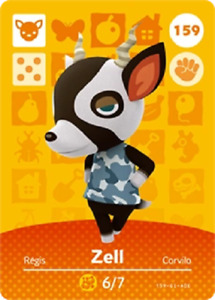Zell NFC Amiibo Card Animal Crossing