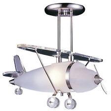Elk Lighting Satin Nickel Prop Plane Pendant Light Ceiling Lamps Kid's Room Lamp