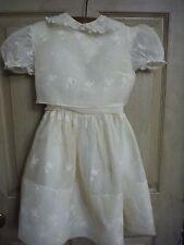 Vintage 1964 Young Girls Three Piece Off White Dress/ Slip dress/ Bolero Cover