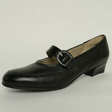 Equity Edith Buckle Bar Strap Court Black Leather Cuban Heel RRP £64.99