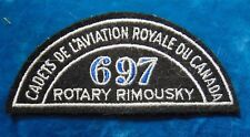 CANADA Royal Canadian Air Cadets ROTARY RIMOUSKY 697 squadron shoulder flash