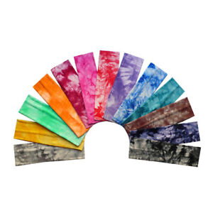 Tie-Dye Sweat Cotton Headband DIY Sports Yoga Stretch Hair Bands Turban Hairband