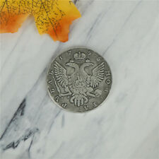 Brass 1755 Russian Antique Playing Old Silver Coins For Holiday TB