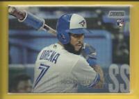 Richard Urena RC 2018 Topps Stadium Club Rookie Card # 102 Toronto Blue Jays MLB