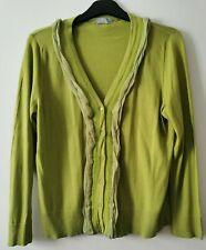 Per Una Lime Green Ladies Cardigan Size 18 (D1)