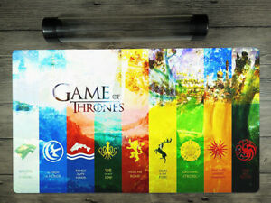 YuGiOh/VG/MTG/DTCG Game of Thrones Playmat Trading Card Game Mat Free Best Tube