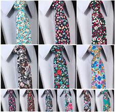 "Floral Paisley 3.4"" Cotton Men's Party Retro Wedding Tie Necktie New Flowers#J5"